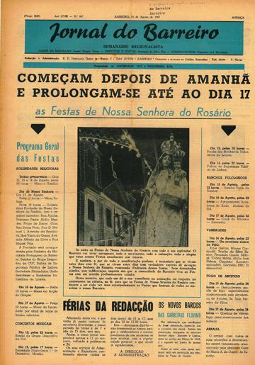 As Festas de Nossa Senhora do Rosário em agosto de 1967