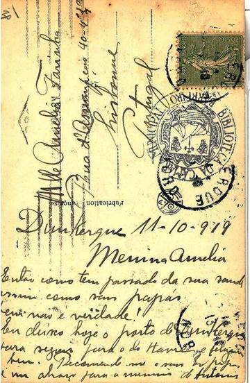 "Postal ""La Liberté Triuomphante"" (verso)"